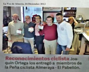comida de navidad Grupo Ciclista El Pabellon y PC Almeraya