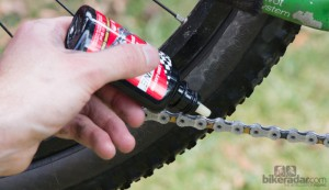 lubricar cadena de bicicleta