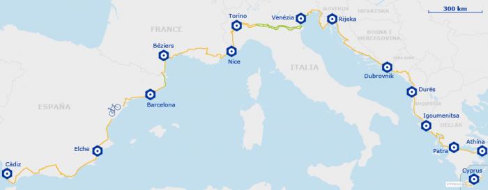 EuroVelo ruta 8 Almeria