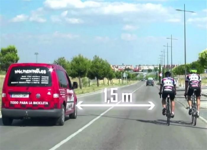 Como adelantar a un ciclista