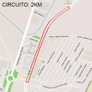 Recorrido Criterium Ciclista Roquetas de Mar