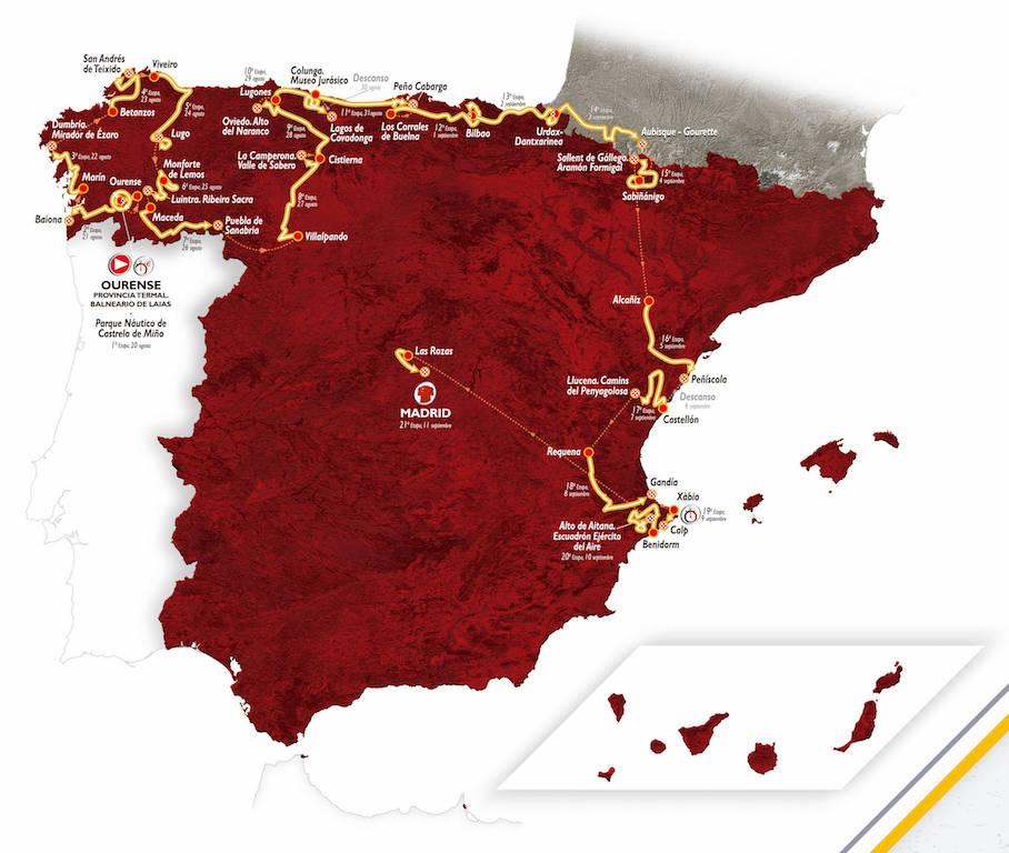Recorrido Vuelta a España 2016