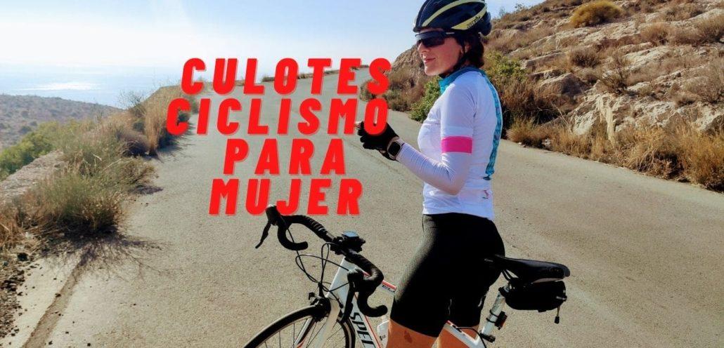 Culotes ciclismo mujer