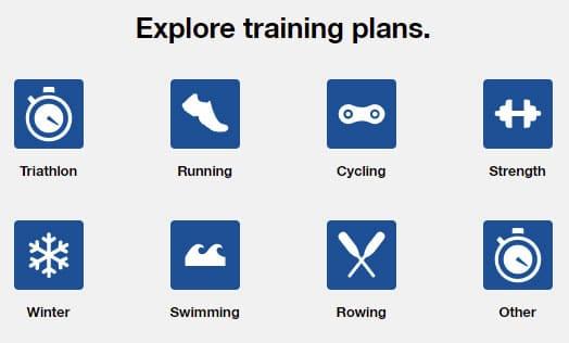 Planes de entrenamiento