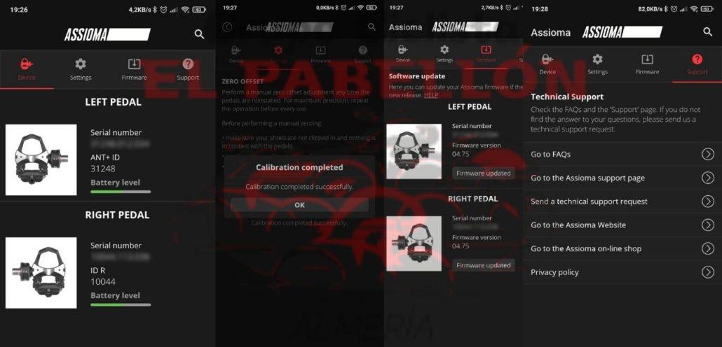 Aplicación móvil Favero Assioma