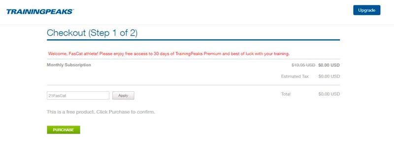 TrainingPeaks Premium 30 días gratis