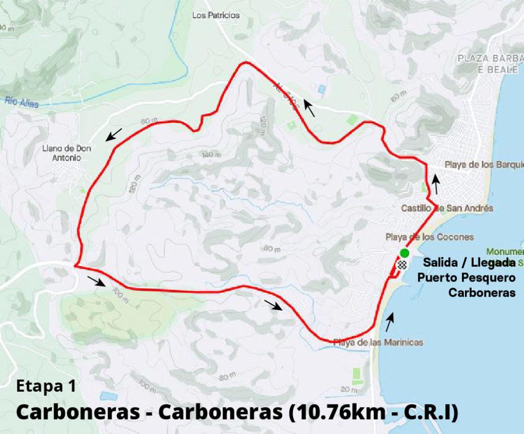 Etapa 1 - Plano - I Vuelta Ciclista a Carboneras 2021