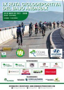 Cartel IX Marcha Ciclodeportiva de Bajo Andarax 2021