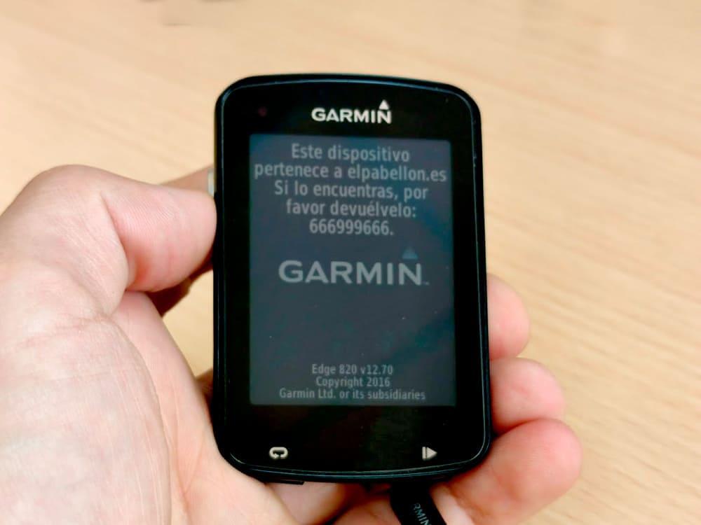 Mensaje contacto Garmin