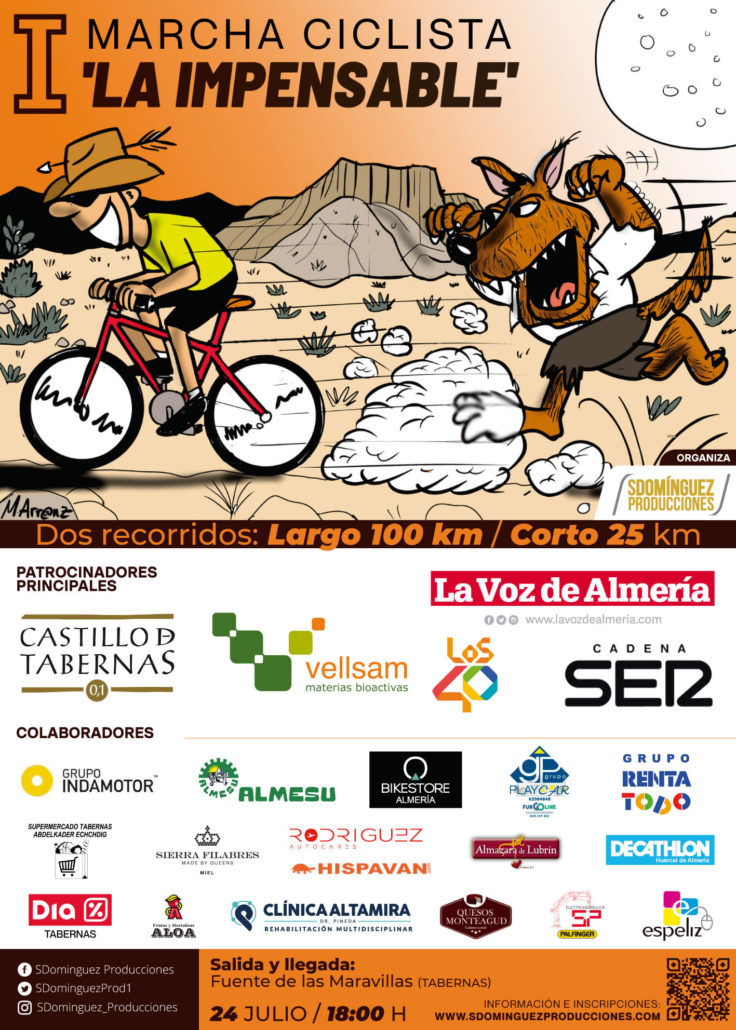 Cartel I Marcha Ciclodeportiva La Impensable 2021
